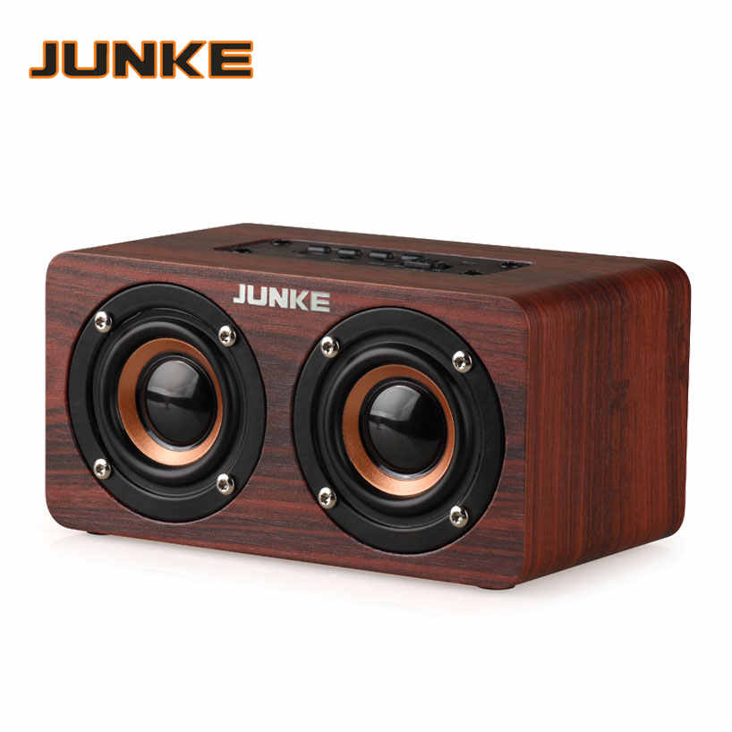 LIUtianP Cartoon Little Panda Solid Wood Bluetooth Audio Mini Portable Speaker Retro Wooden Speaker