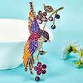 Very Beautiful Bird Brooches For Women Colar Feminino Broches Crystal Wedding Accessories Shiny Enamel Broaches Esmalte De Unhas