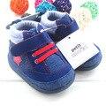 Детская Обувь Ребенка Сначала Ходунки нескользящей Обуви Малыша для Детей Зима Теплая Обувь для Мальчиков