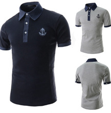 Summer Men Turn-down Collar Polo Shirt Embroidery Logo Solid Polo Shirt Business Casual Polo Shirt Breathable Sportswear Tommis