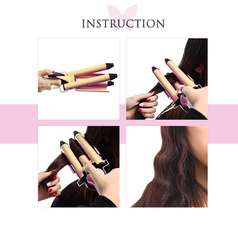 Kemei профессиональный уход за волосами и инструменты для укладки для накрутки волос волнистый стайлер для завивки волос щипцы для волос krultang iron 5