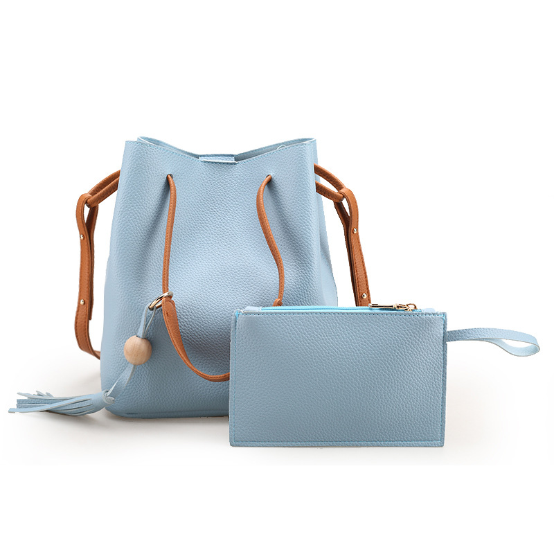 2017 New Summer Bucket Bag Drawstring Shoulder Bag Cross Body Bag Women Brand Fashion Famous Designer Beach Handbag Trend Summer candy color women shoulder bag cross body handbag bucket satchel purse tassel summer bag cow leather ladies designer bag