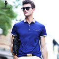 Troilus Fashion Summer Men Polo Shirts Color Block Splicing Design Turn-Down Collar Short Sleeve Polo Tee Shirt For Men Clothing