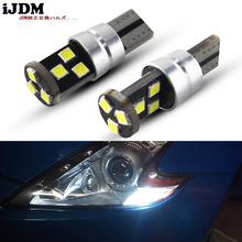 iJDM Car Lights T10 led 192 194 168 COB W5W 3030 9SMD LED CANBUS NO Error DRL Marker Parking Light Bulb 6000K white 12v
