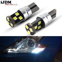 Ijdm luzes do carro t10 led 192 194 168 cob w5w 3030 9smd led canbus nenhum erro carro drl marcador de estacionamento lâmpada 6000 k branco 12v