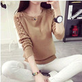 Hot Sale 2016 Fashion New Women Sweater Korean Style Retro Twist Round Neck Long-sleeved Knitted Pullover Sweaters C182