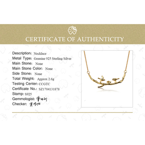 Image 5 - Lotus Spaß Echt 925 Sterling Silber Handgemachte Designer Edlen Schmuck Nette Vogel auf Zweige Halskette mit Anhänger für Frauen Collier