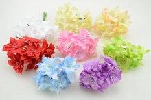 6 шт./лот Diy венок бабочка скрапбукинг искусственные цветы шелковый цветок свадебные украшения сада гирлянды