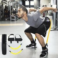 Приспособления для тренировки прыжков резинки экспандер для груди, для фитнеса набор эспандеров для игры в баскетбол волейбол Футбол ноги ...