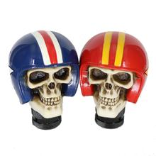 цена на Universal Resin Gear Shifter Knob Skull Shift knob Skeleton Helmet Lever Car Truck Auto Gear Knob