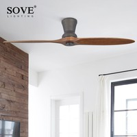Modern LED Village Industrial Wooden Ceiling Fan With Lights Wood Ceiling Fans Without Light Decorative Ceiling Light Fan Lamp