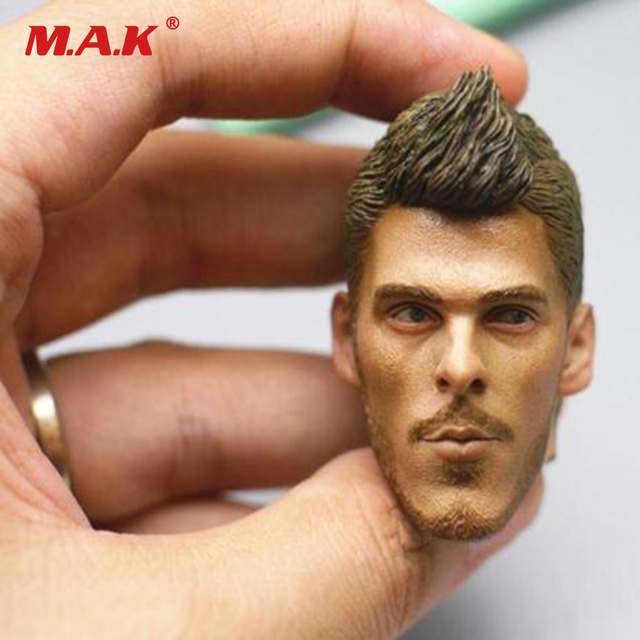 1/6 Scale Male Figure Head Carved Football Star David De Gea Quintana Head Sculpt for 12 inches Man Figure Body