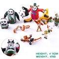 Kung Fu Panda 3 Toys Po Mei Mei /Li Shan Tigress Monkey Viper Crane PVC Figures Kids Child Toys 11pcs/set MVFG366