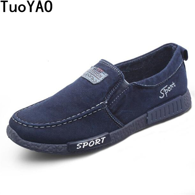 Men's Shoes Spring Summer Canvas Slip-On Classic Style Light Breathable Fashion Sneakers Vulcanized Shoes