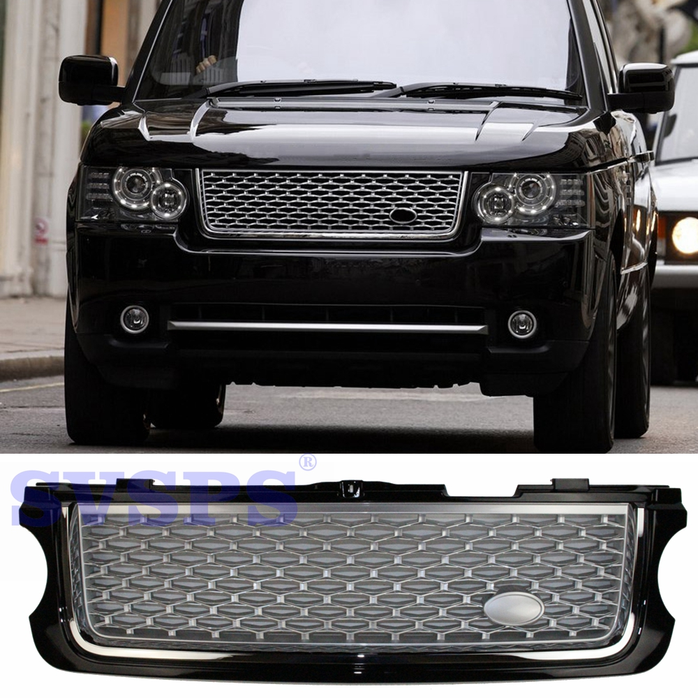цена на Tuning Auto Parts Front Middle ABS Grille Grill autobiography style For Land Range Rover L322 Vogue 2010-2013 year Vehicle