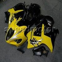 Tank kapağı + GSXR1300 1997 1998 1999 2000 2001 2002 2003 2004 2005 2006 2007 sarı siyah için motosiklet Fairing Suzuki Hayabusa