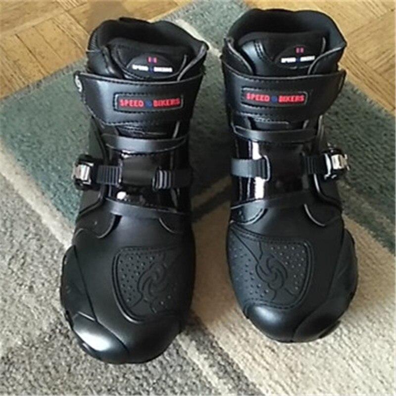 Bottes de moto souples PRO botte motard imperméable vitesse bateaux à moteur hommes bottes de motocross chaussures de moto antidérapantes A9003