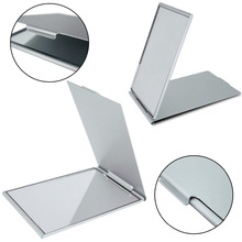 For Girl Ultra-thin Make Up Pocket Mirror Cosmetic Rectangle Foldable Silver Makeup Mirrors Gift