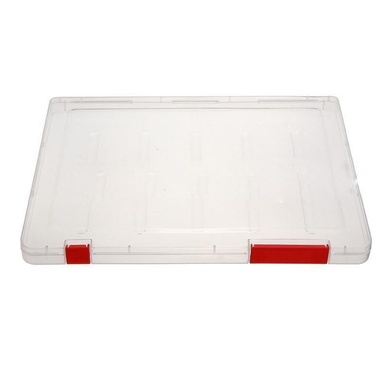 A4 Files Plastic Document Case Storage Box Holder Paper Office School Organizer red
