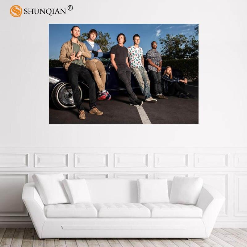Nice Maroon 5 Poster Custom Satin Poster Print Cloth Fabric Wall Poster Print Silk Fabric Print Poster 18-1-30