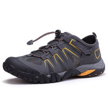 2019 Summer Mens Top Hiking Shoes Air Mesh Soft and Breathable Sneakers Outdoor Sport Draw Quik-dry  Agua Zapatos