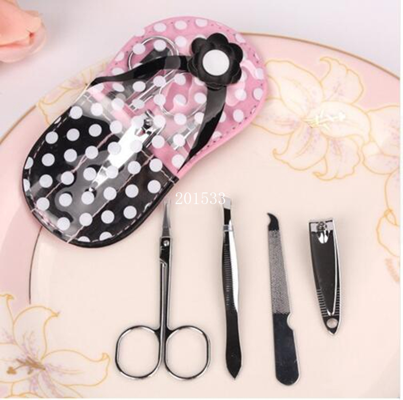 free shippingbridal shower favors and gifts flip flop design manicure kits wedding party giveaway for guest100setslot