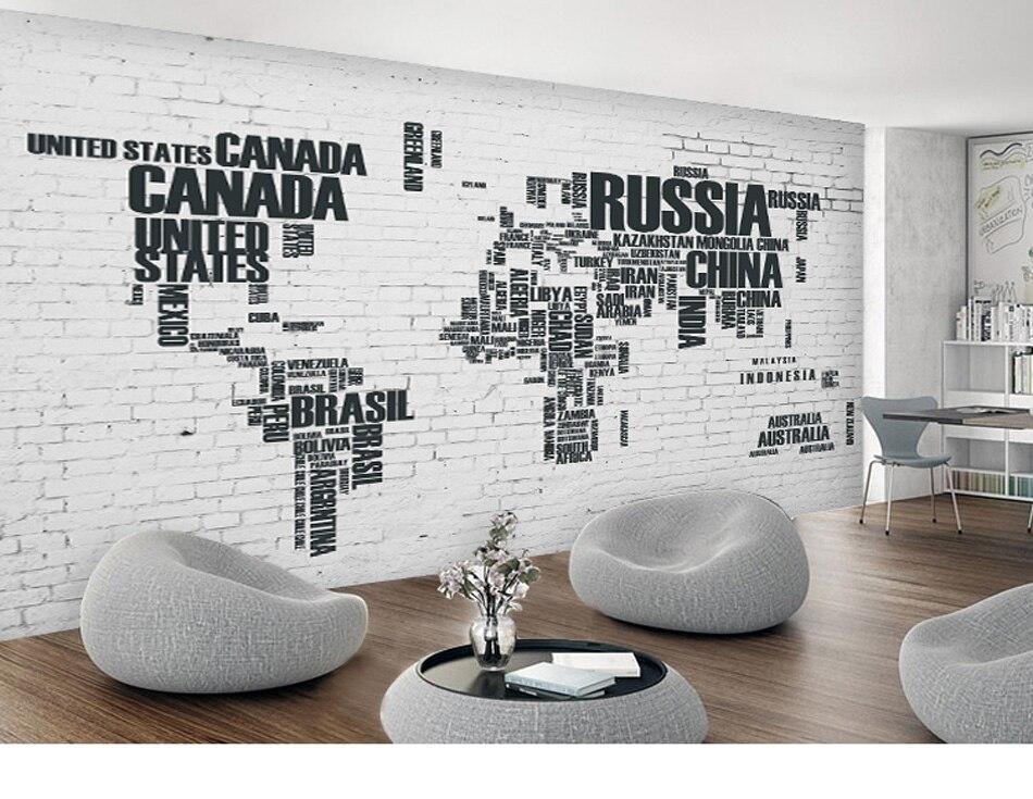 Online Shop Russia Canada World Map Custom DIY 3d Wallpaper Mural Rolls For Livingroom Office Hotel Restaurant Bar KTV Bedroom Background