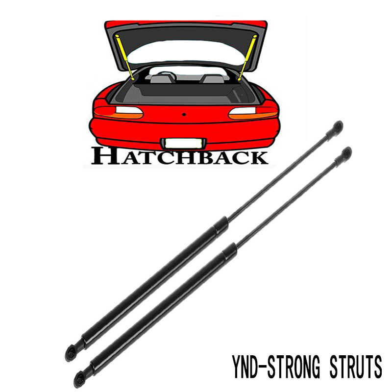 2011 Toyota Yaris Suspension: 2pcs Hatchback Gas Charged Lift Support Struts PM2053 For