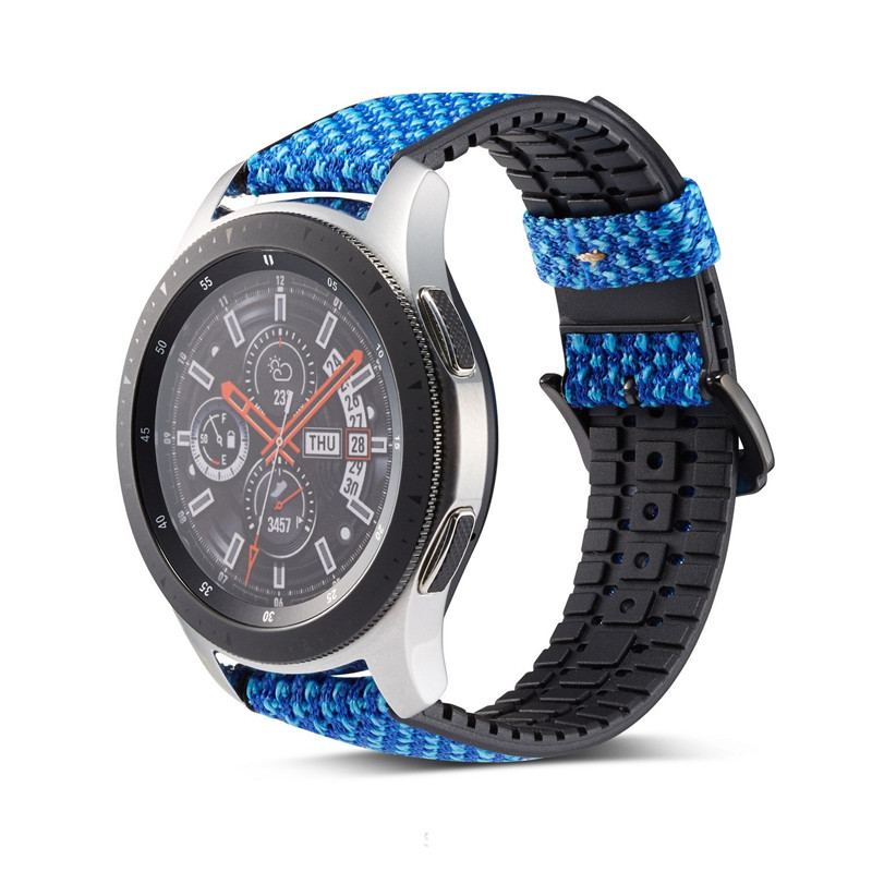 22mm Watch Band For Samsung Galaxy Watch 46mm Silicone With Leather Wrist Strap For Samsung Gear S3 Frontier/Classic Smartwatch