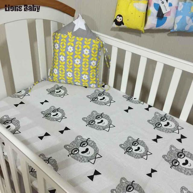 Moda Complementos Monster Dormitorio Del Bebé Recién Nacido Cuna Cuna Sábanas ropa de Cama Hoja de Cama Cuna Niño Menor de Cama Bumpers Sábana ajustable