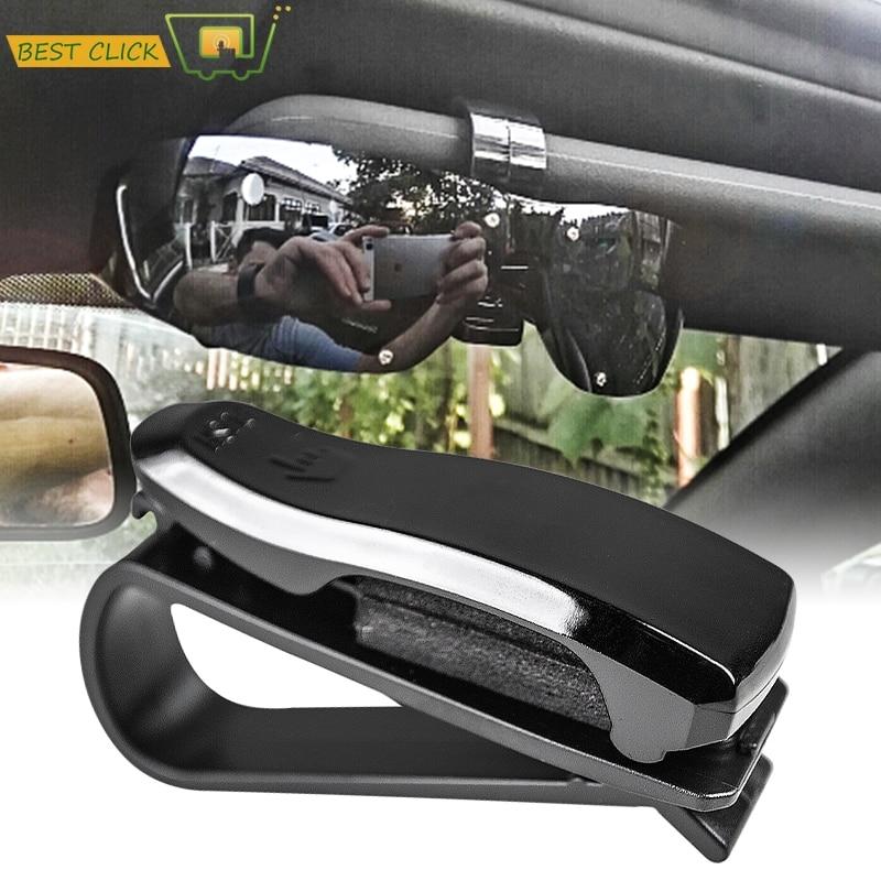 Car Vehicle Accessory Sun Visor Sunglasses Glasses Card Pen Holder ClipYT