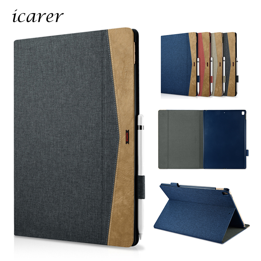 For New iPad Pro 12.9 2017 PU Leather Case Cover Slim Protective Stand Skin For Apple iPad Pro 12.9 inch Tablet PC Smart Fundas for apple ipad pro 12 9 2017 case fashion retro pu leather cases for ipad pro new 12 9 2017 tablet smart cover case pen