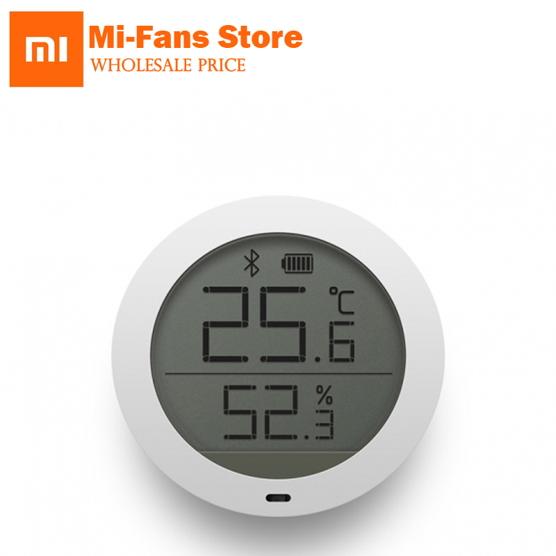 Galleria fotografica Original <font><b>Xiaomi</b></font> LCD Screen Digital Thermometer Mijia Bluetooth Temperature Smart Humidity Sensor Moisture Meter <font><b>Mi</b></font> Home APP