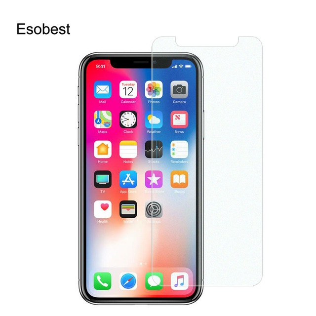 buy online 910f2 bb8da US $2.79 30% OFF|Esobest 5pcs PET Glitter screen film For iphone X XS max  XR screen protector Diamond Effect sparkle saver for iphone 8 plus-in Phone  ...