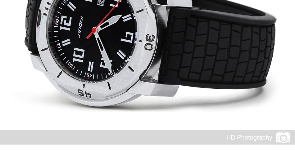 SINOBI Surfing Clock 3Bar Waterproof Watch Mens Sports Wristwatch Designer Branded Chronograph Male Spy Geneva Quartz-watch 007 25