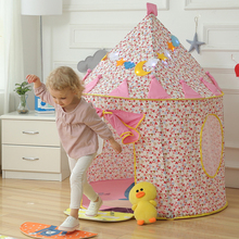 Girl Princess Playhouse Kids Tents Cartoon Foldable Toy Tent Indoor Outdoor Baby Play Game Room Best Gift for Children  цена 2017