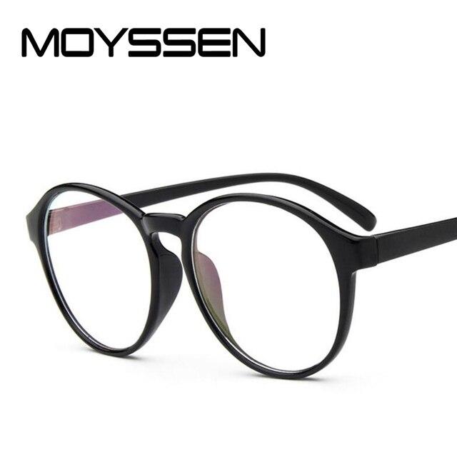 387d35c9cbf7 MOYSSEN Wholesale Brand Design Fashion Women Big Round Frame Eyeglasses Men  Vintage Computer Anti-radiation Optical Glasses