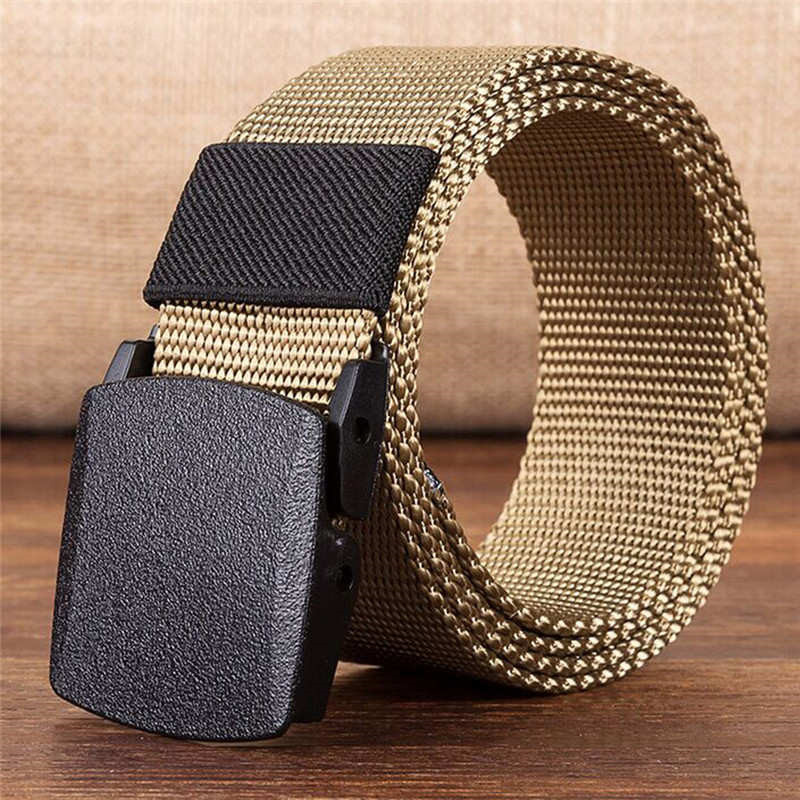 Long Life Men Outdoor Sports Nylon Waistband Canvas Male Belt Dazzling Cinturones Para Mujer Ceinture Homme Harajuku La Ceinture