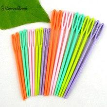 """DoreenBeads многоцветные пластиковые швейные иглы DIY ремесла аксессуары 2 3/"""", 3 3/4"""", 20 шт"""