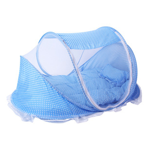 Baby Mosquito Insect Cradle Net 3pcs/set Include Mosquito Net Pillows Mattress Baby Bedding Mesh Crib Netting Portable Folding