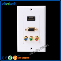 RJ45 RCA F HDMI Video Audio Network Wall Plate