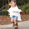 Keelorn Kids Hot Style 2017 Spring New Cotton Girl Casual White Princess Flare Sleeve Dress Cute Fashion Dress Evening dress