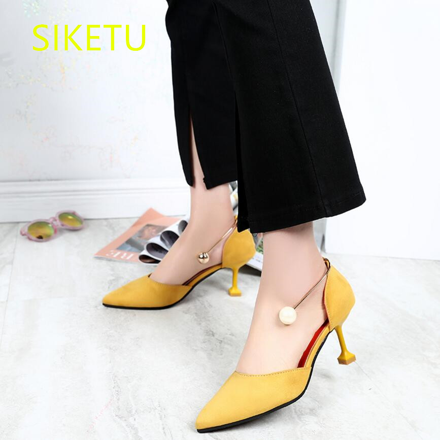 SIKETU 2017 Free shipping Spring and autumn The New high heels shoes fashion women shoes Wedding shoes pumps g060 siketu 2017 free shipping spring and autumn women shoes sex high heels shoes wedding shoes sweet lovely pumps g126