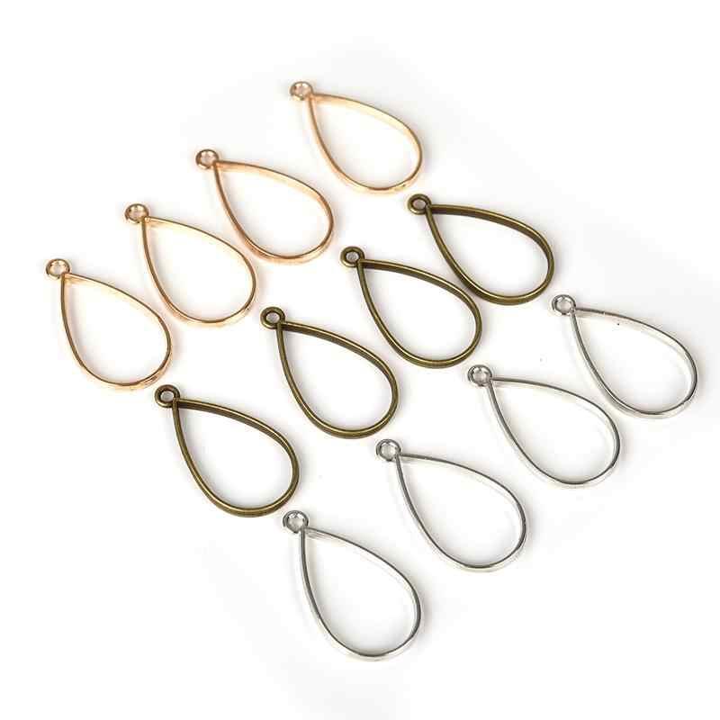 10Pcs Stainless Steel Open Tear//Water Drop Pendants DIY Jewelry Earring Findings