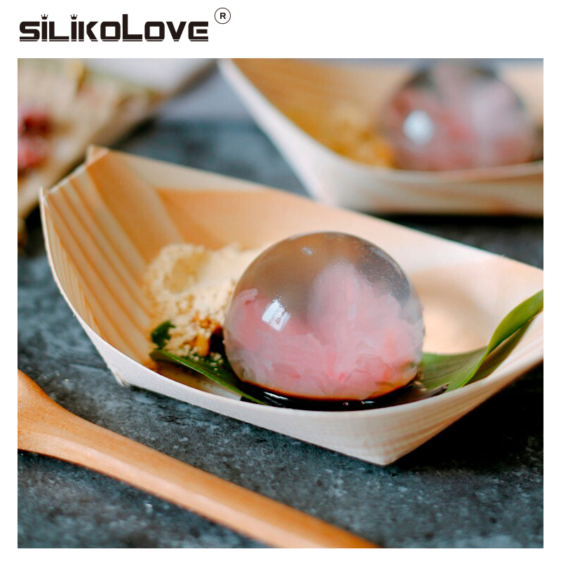 SILIKOLOVE 4 Cavity Silicone Ice Ball Mold For Drinks Beer Whisky Lollipop Pudding Ice Tray Silicone Mold Ice Cube Tray Kitchen