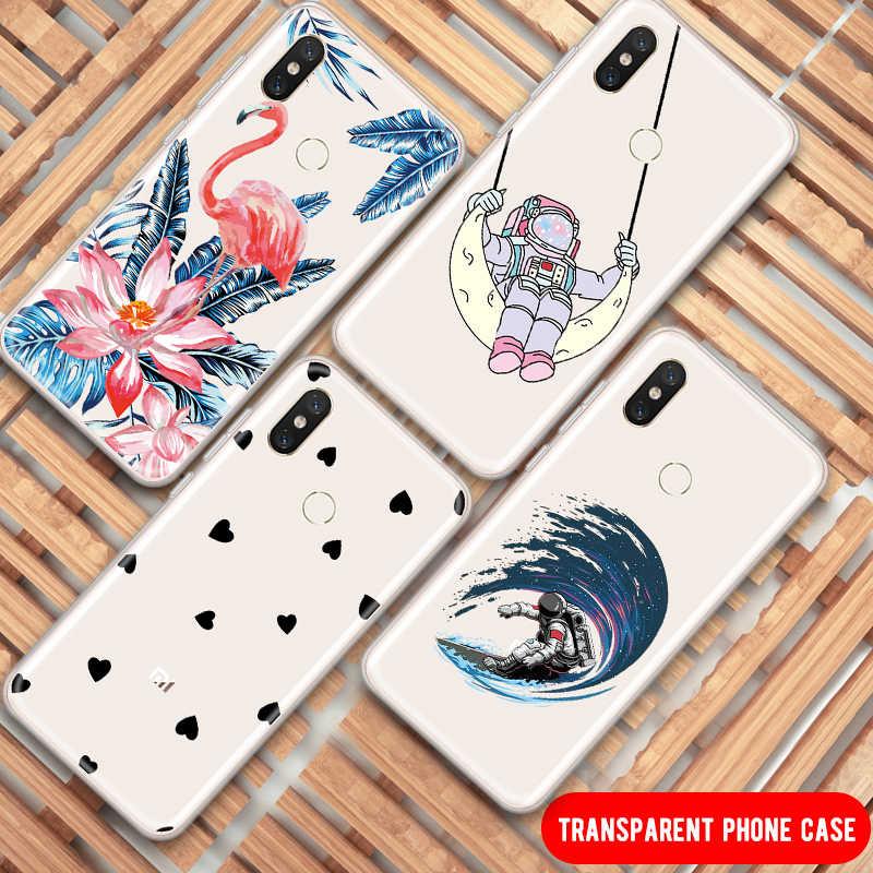 جميل القط المطبوعة TPU حقيبة لهاتف xiaomi Redmi ملاحظة 7 6 5 الموالية الأزياء منقوشة واضح سيليكون جراب هاتف شاومي Mi9 Mi8 كابا