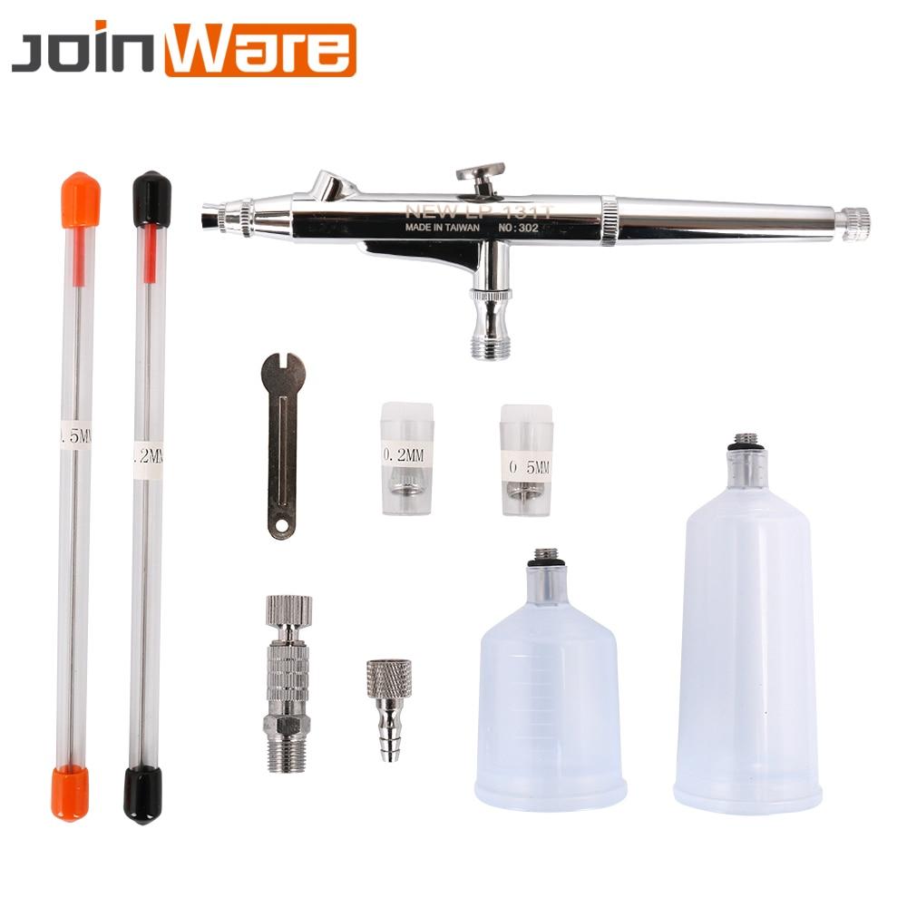 Image 2 - Airbrush Gun Set 0.2 0.3 0.5mm Nozzle Airbrush Pen Kit Dual Action Gravity Feed Spray Gun for Painting Cake Decorating Nail Art-in Spray Guns from Tools on