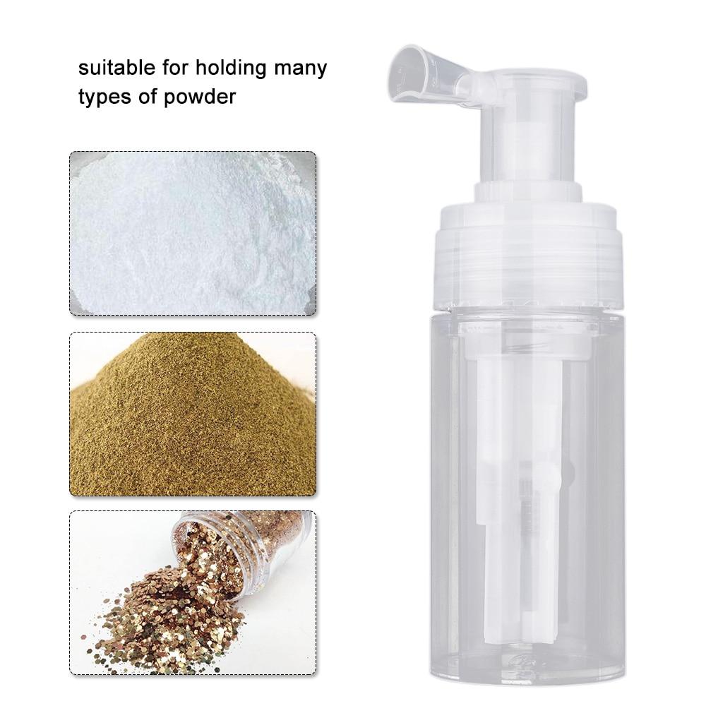 Clear Powder Sprayer PET Spray Bottle Empty Powder Spray Travel Bottle For Glitter Fragrance Powders For Summer Travel Camp