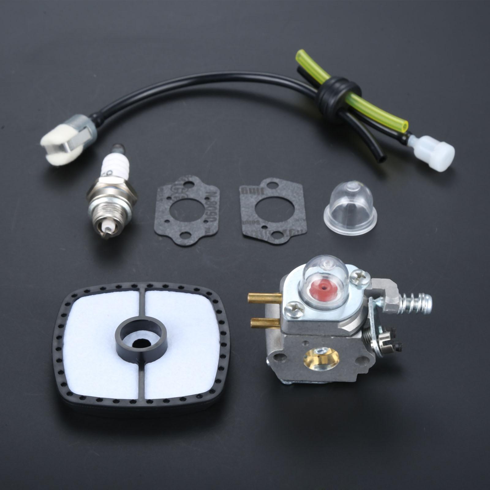 DRELD Carburetor With Gasket FUEL LINE SPARK PLUG FUEL FILTER For ZAMA C1U-K52 C1U-K29 C1U-K47 Echo PE-2000 PE-2400 Trimmer Carb