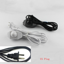 1PC 1.8M US  Plug No Polarity AWG Switch Dimming Cable Light Modulator Lamp Line Dimmer cord 110-220V цена